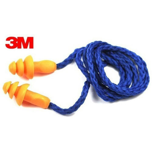 3M 1271 Corded Reusable Ear Plugs with Storage Case