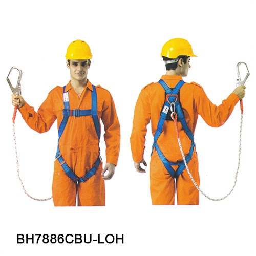 PROGUARD ECONOMIC FULL BODY HARNESS BUILT-IN WITH LANYARD-6007-BH7886CBU-LOH