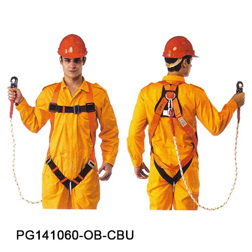 PROGUARD FULL BODY HARNESS BUILT-IN WITH LANYARD-6004-PG141060-OB-CBU-2