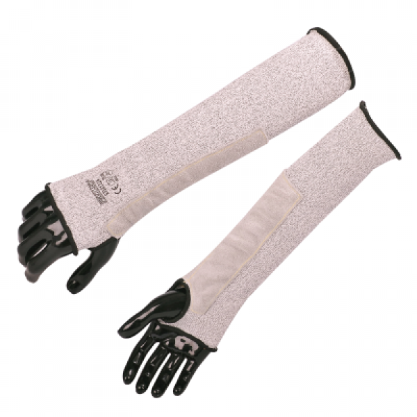 Cut Resistant Sleeve With Leather Protection ST 58122A-600x600