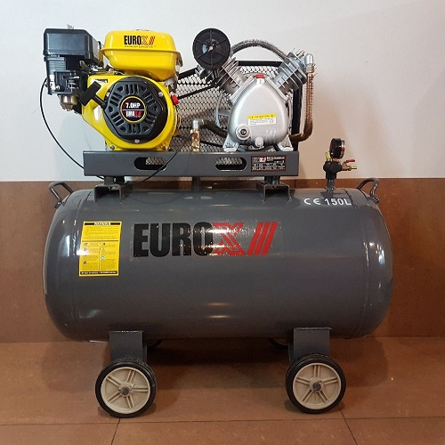 EUROX Petrol Engine Air Compressor 5.5hp 12bar 150Lts