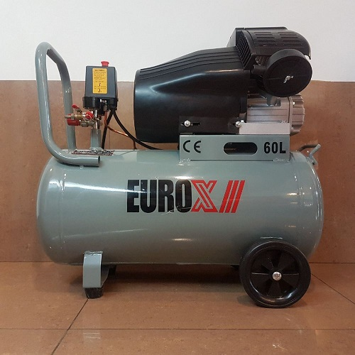 Eurox 3hp 60L 8bar V-Twin Air Compressor EAX-8060