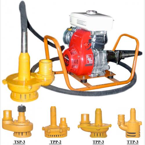 TOKU Trash Pump Robin EY-20D, 3'x6m, 23m, 1200L-min, 28kg TTP-3