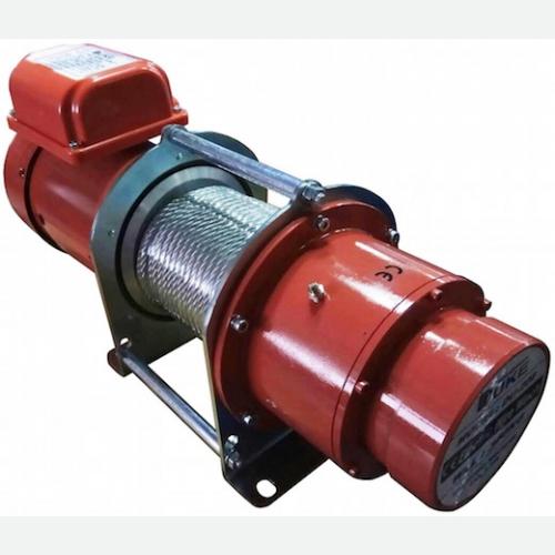 DUKE Winch 350kg, 7mmx30m, 15m/min, 3Ø, 1.1kW, 42kg DU-208