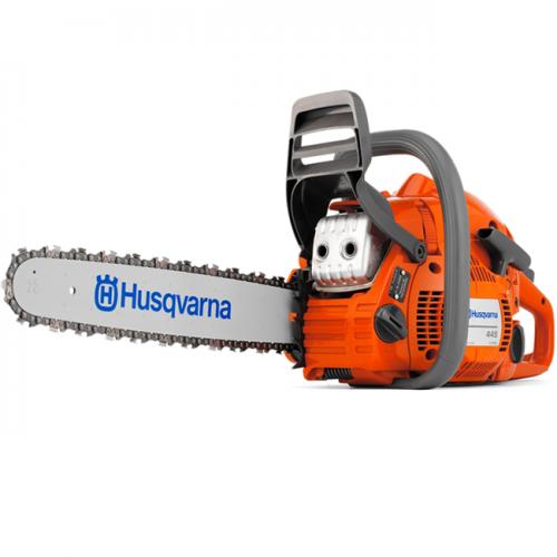 """Husqvarna Chain Saw 45.7CC, 2.8HP, 2700rpm, 18"""", 4.9kg 445"""