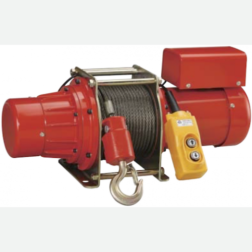 NKK Electric Winch 500kg, 8mmX30m, 18m/min, 49kg TW500 (1 phase)